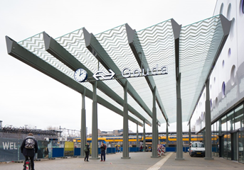 Gouda train station canopy