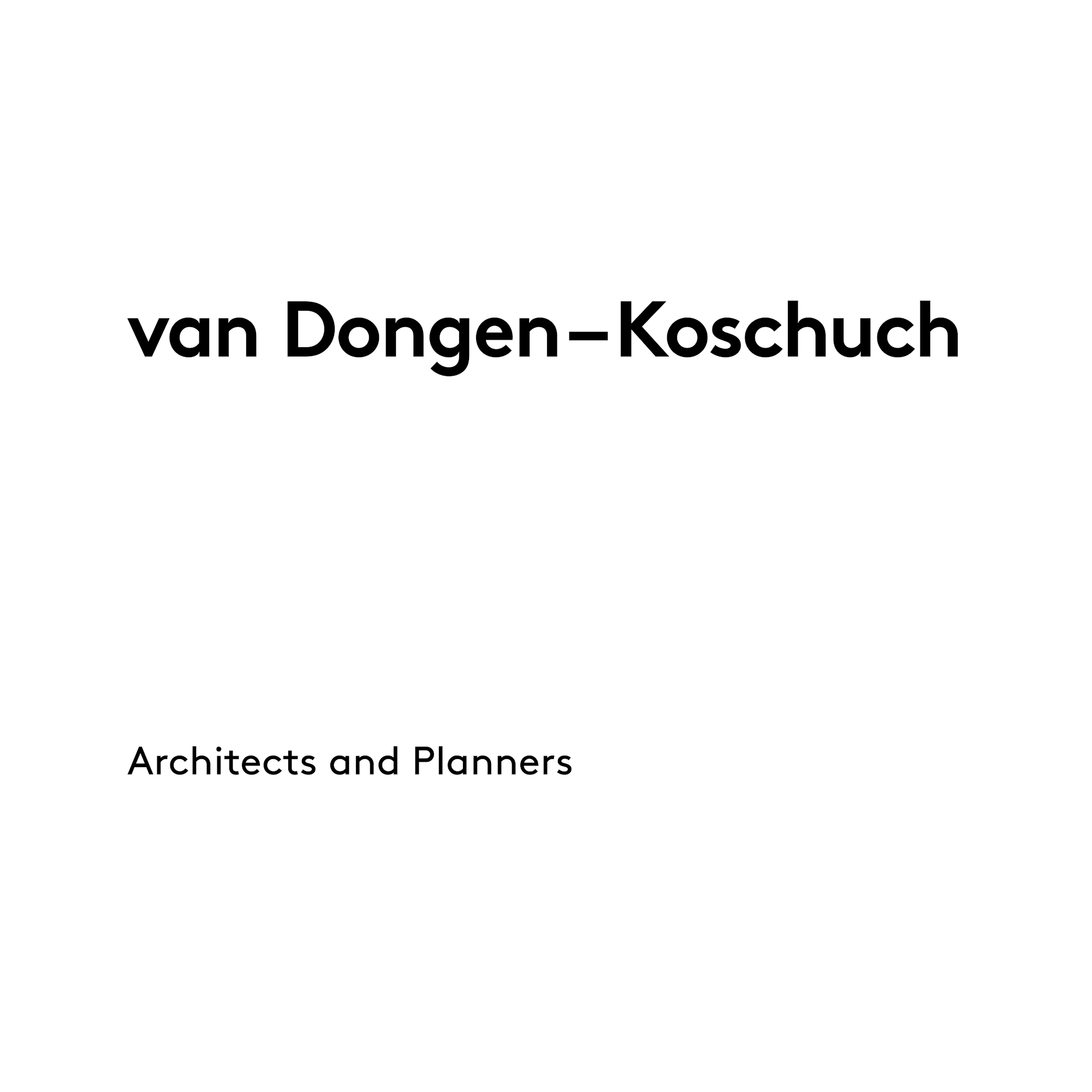 Logo Van Dongen-Koschuch Architects and Planners