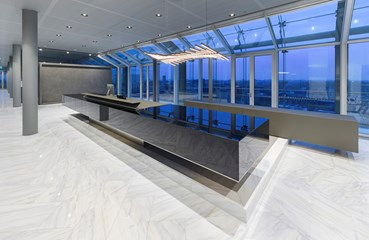 IMC Glass Reception Desk (Infinity Offices)