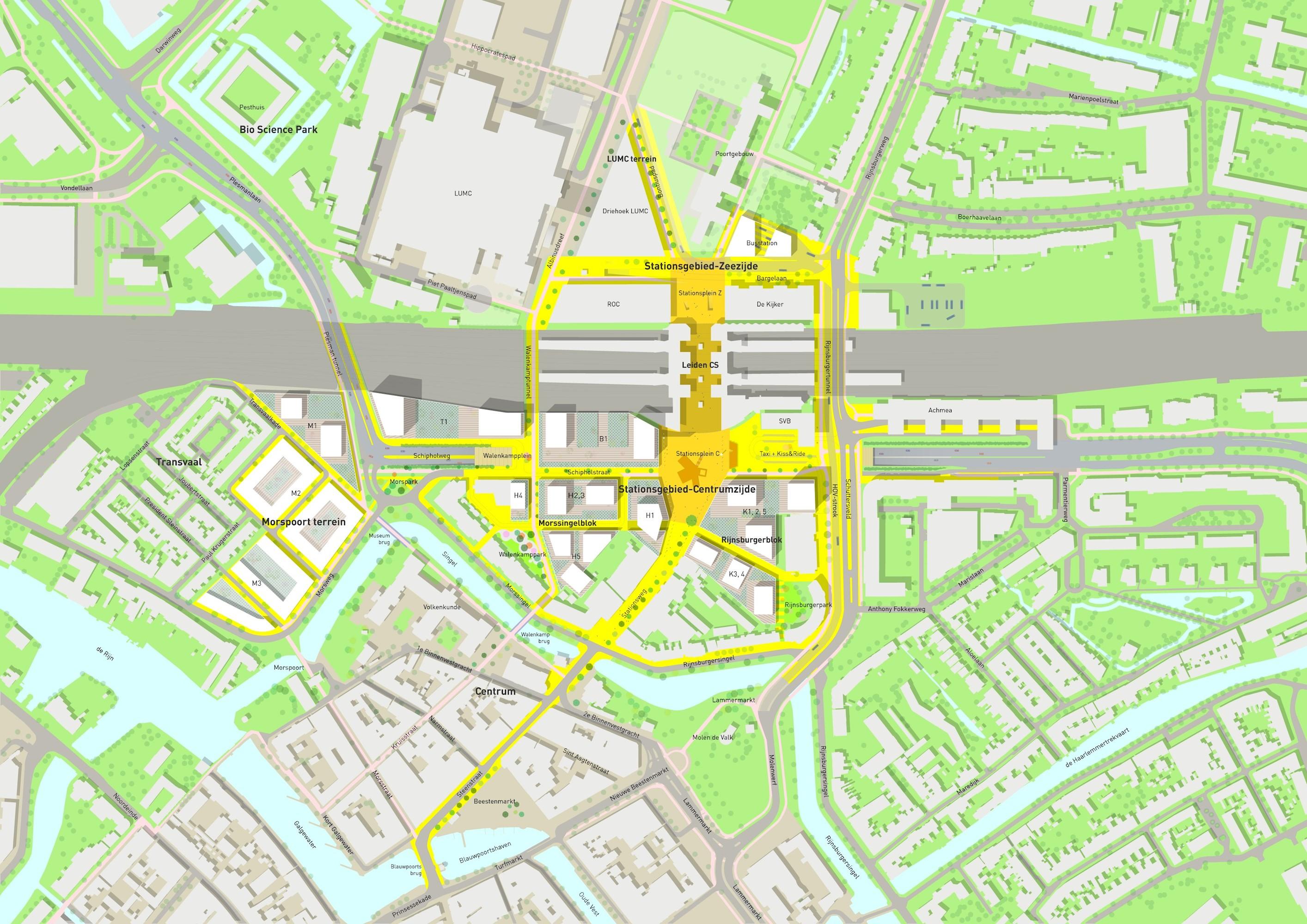Leiden station area masterplan Galleo
